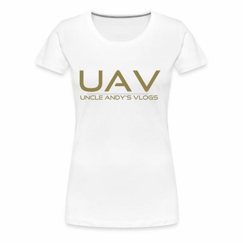 Uncle Andy's Vlogs Merch (gold) - Women's Premium T-Shirt