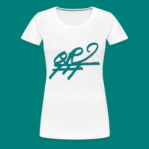 QRFFF RAW SHARPIE WINNING GREEN - Women's Premium T-Shirt