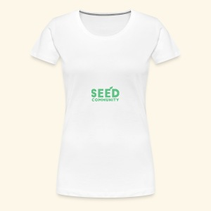 SEED Community Logotype - Green - Women's Premium T-Shirt