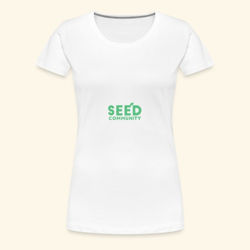 SEED Community Logotype - Green - Women's Premium T-Shirt