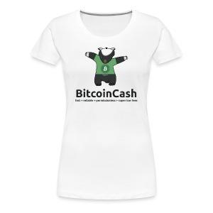 Bitcoin Cash max badger Green - Women's Premium T-Shirt