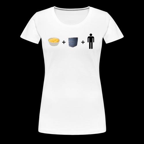 Macaroni Pocket Man Shirt - Women's Premium T-Shirt