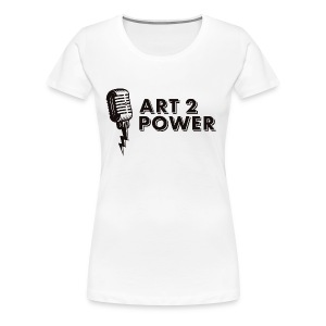 ART 2 POWER - black logo - Women's Premium T-Shirt