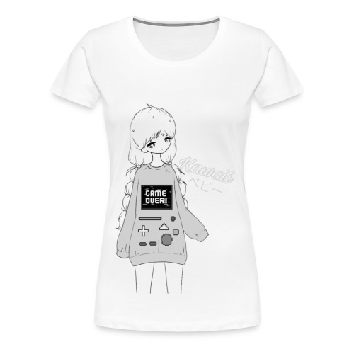 Game Over Kawaii - Women's Premium T-Shirt