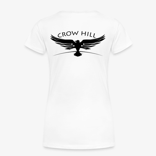 Crow Hill Band Black Logo on Back - Women's Premium T-Shirt