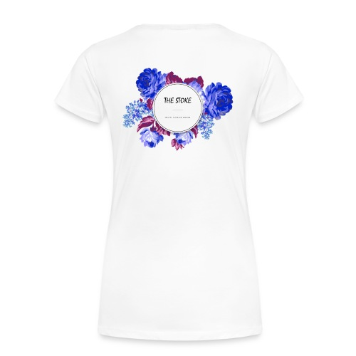 The Stoke Badge Floral - Women's Premium T-Shirt