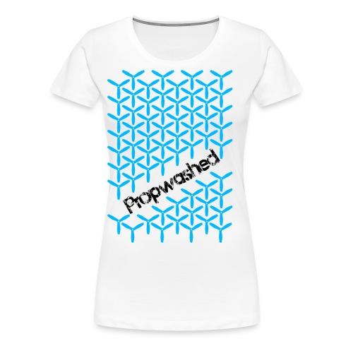 Propwashed Prop Pattern (Blue-Black) - Women's Premium T-Shirt