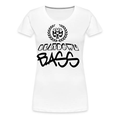 BEATDOWN BLACK LOGO - Women's Premium T-Shirt