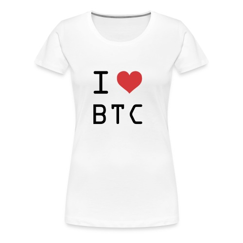 I HEART BTC (Bitcoin) - Women's Premium T-Shirt