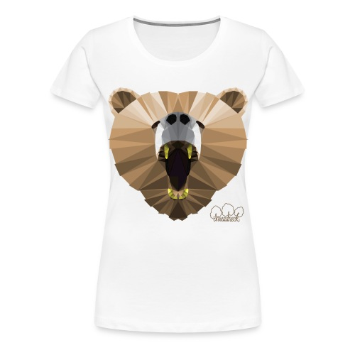 Hungry Bear Women's V-Neck T-Shirt - Women's Premium T-Shirt