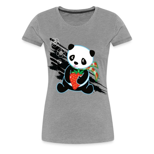 Cute Kawaii Panda T-shirt by Banzai Chicks - Women's Premium T-Shirt