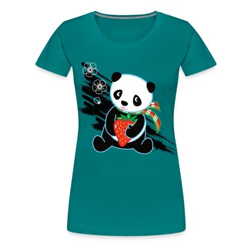 Cute Kawaii Panda T-shirt by Banzai Chicks - Women's Premium T-Shirt