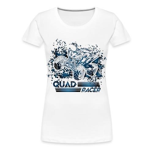 Blue Quad Racer Grunge - Women's Premium T-Shirt