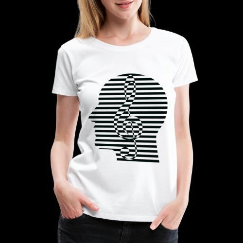 Treble Clef Cranium - Women's Premium T-Shirt