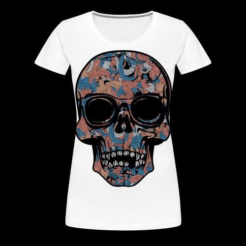 Abstract Skull With Sunglasses - Women's Premium T-Shirt