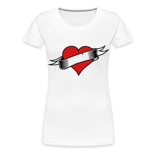 Custom Love Heart Tattoo - Women's Premium T-Shirt