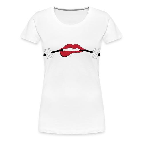 PrettySTRONG Barbell - Women's Premium T-Shirt