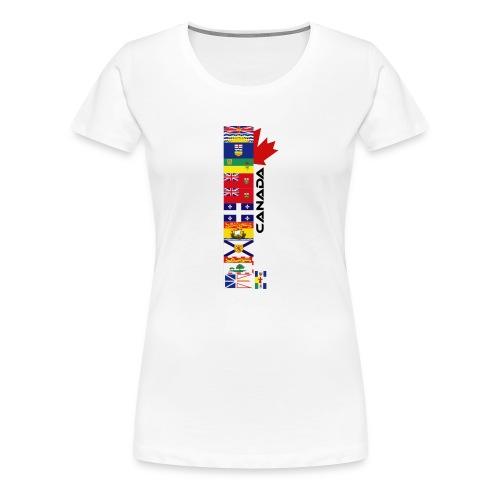 Canadian Provinces - Women's Premium T-Shirt