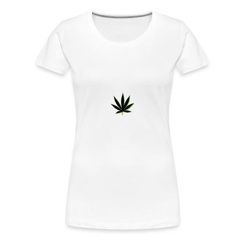 weed symbol drawing leaf - Women's Premium T-Shirt