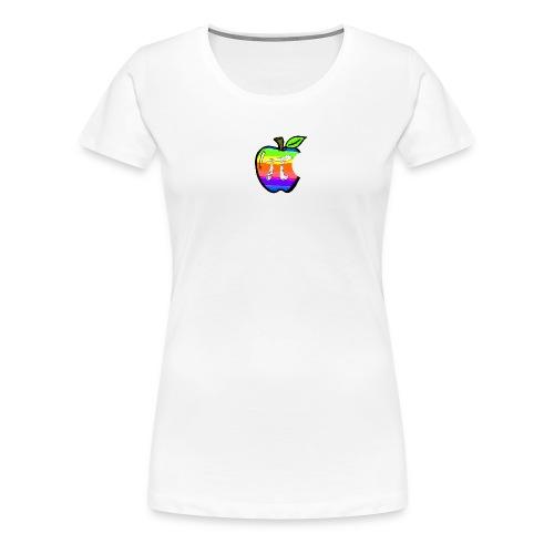 Apple Pi Rainbow:Think Irrationally - Women's Premium T-Shirt