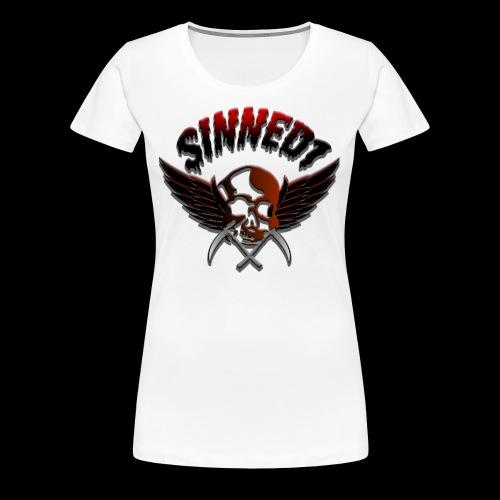 Sinned1 Dripping Text - Women's Premium T-Shirt