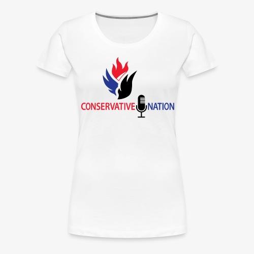 Conservative Nation Double Eagle Collaboration - Women's Premium T-Shirt