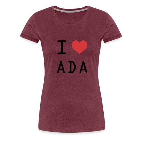 I HEART ADA (Cardano) - Women's Premium T-Shirt