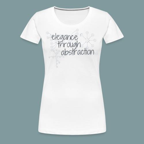 Elegance through Abstraction - Women's Premium T-Shirt