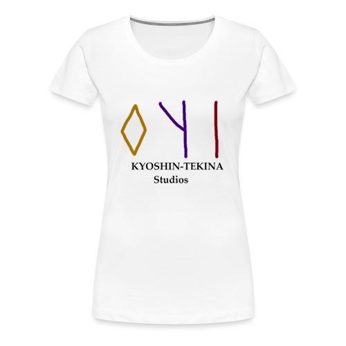 Kyoshin-Tekina Studios logo (black test) - Women's Premium T-Shirt