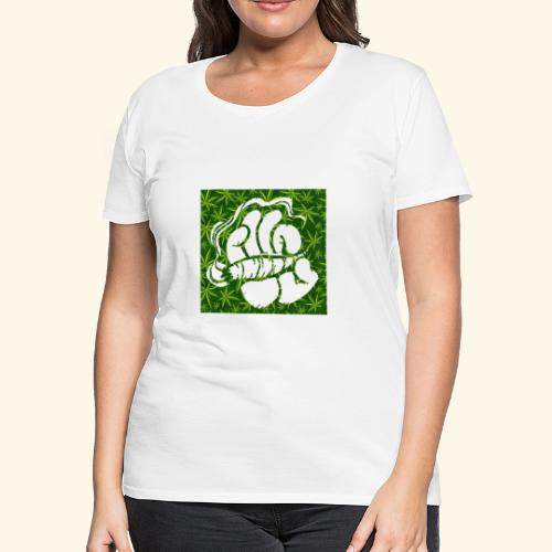 Hand with a joint - smoking weed 420 lifestyle - Women's Premium T-Shirt