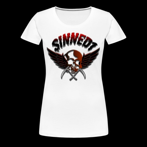 Sinned1 Dripping Text - Women's Premium T-Shirt