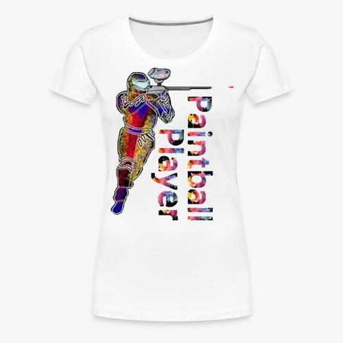 Paintball player - Women's Premium T-Shirt