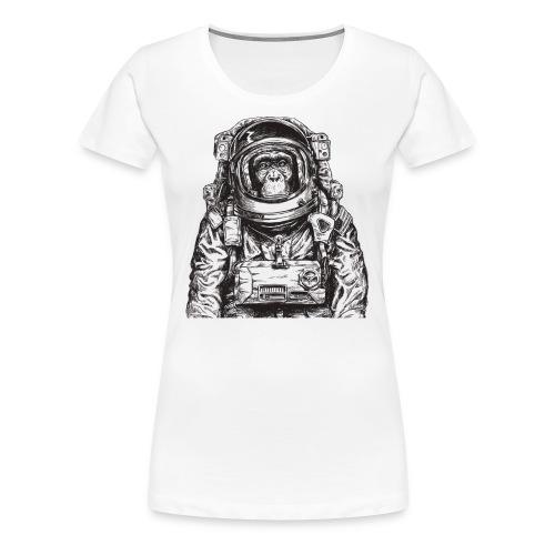 Monkey Astronaut - Women's Premium T-Shirt
