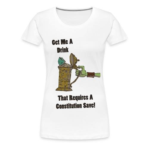 grugnakmugshirt withblacklettering - Women's Premium T-Shirt