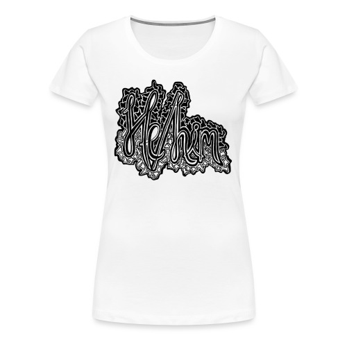 He/Him Cursive Blob - Large - Women's Premium T-Shirt