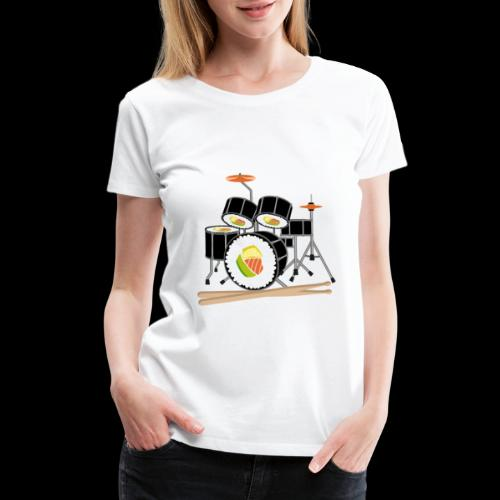 Sushi Roll Drum Set - Women's Premium T-Shirt