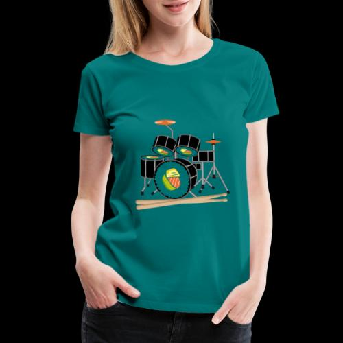 Sushi Roll Drum Set - Women's Premium T-Shirt