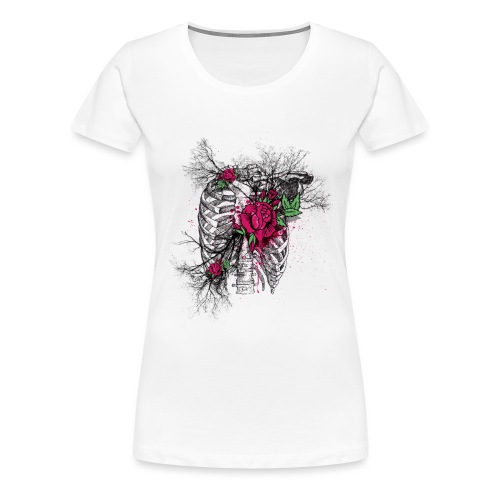Skeleton Rose - Women's Premium T-Shirt