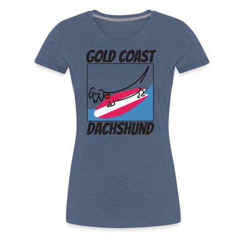 Gold Coast Dachshund - Women's Premium T-Shirt