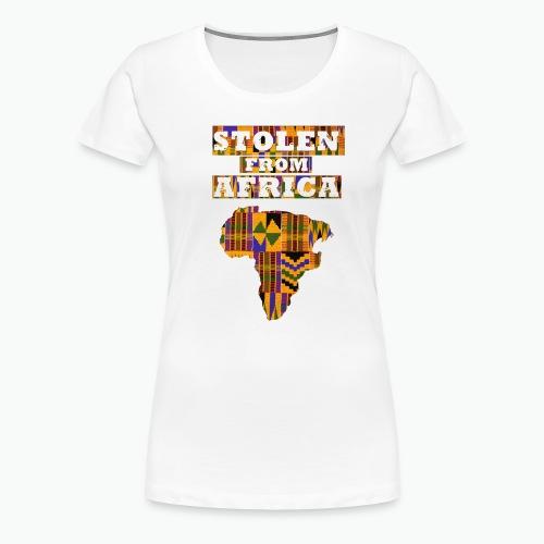 STOLEN FROM AFRICA Kente - Women's Premium T-Shirt