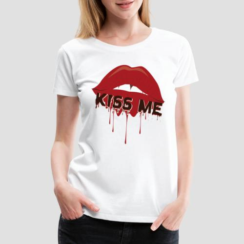 Valentine's Day T-Shirt Kiss Me for Lovers - Women's Premium T-Shirt