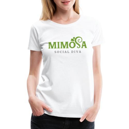 mimosa social diva - Women's Premium T-Shirt