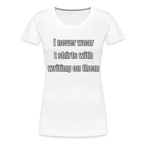no writing - Women's Premium T-Shirt