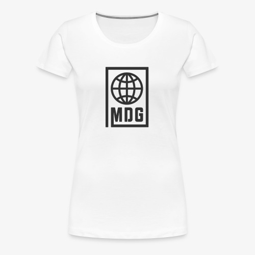 MDG Globe Concept - Black - Women's Premium T-Shirt