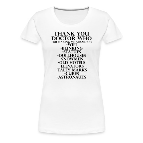 Thank You Doctor Who - Women's Premium T-Shirt