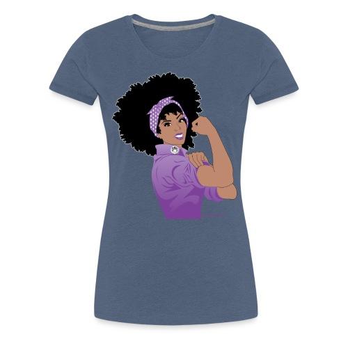 GlobalCouture WeCanDoItPurple Girl RGB png - Women's Premium T-Shirt