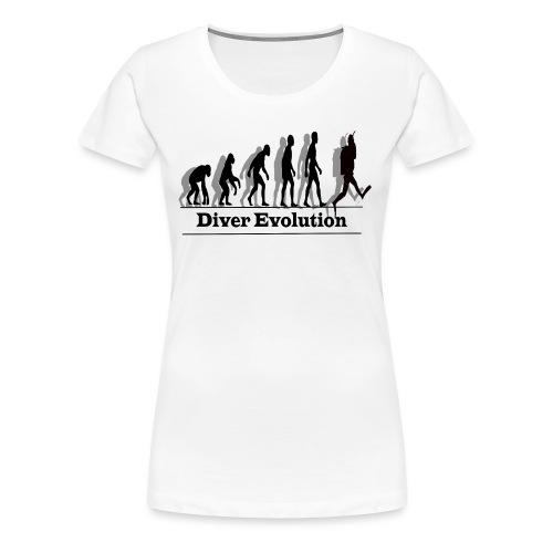 Diver Evolution - Women's Premium T-Shirt