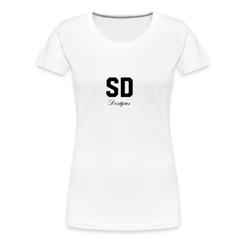 SD Designs blue, white, red/black merch - Women's Premium T-Shirt