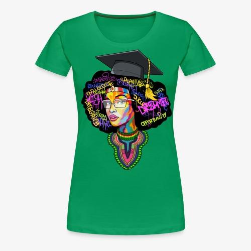 Black Educated Queen School - Women's Premium T-Shirt