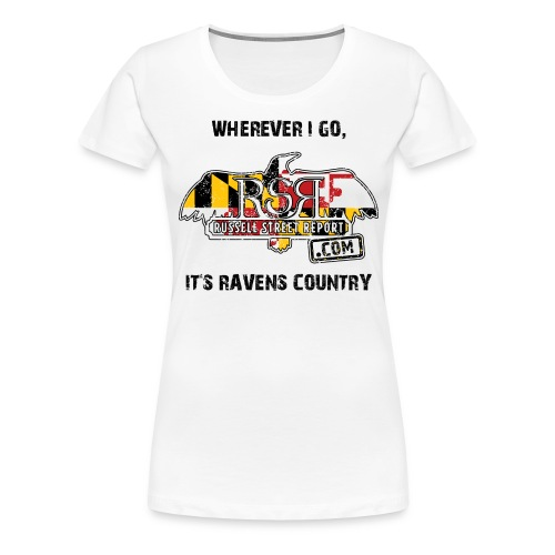 rsr logo ravens country BLK TEXT png - Women's Premium T-Shirt